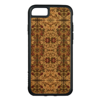 Coque En Bois iPhone 7 Caisse en bois de rose rouge de cerise antique
