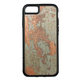 Coque En Bois iPhone 7 Cas en bois peint rustique de téléphone