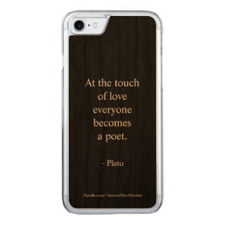 Coque En Bois iPhone 7 Citation de Platon ; Le contact de l'amour