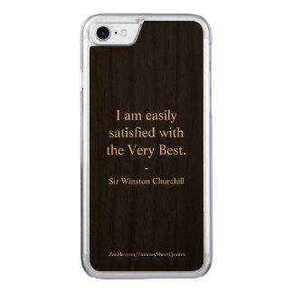 Coque En Bois iPhone 7 Citation de Winston Churchill ; le meilleur