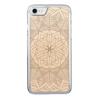 Coque En Bois iPhone 7 Conception décrite 060517_3 de mandala