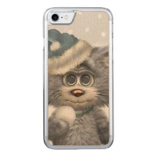 Coque En Bois iPhone 7 Le pays des merveilles d'hiver de chats de Kitty