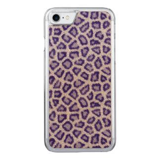 Coque En Bois iPhone 7 Léopard violet