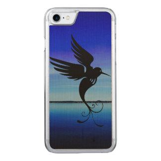 Coque En Bois iPhone 7 Mouche impressionnante d'oiseau rêveur d'art en
