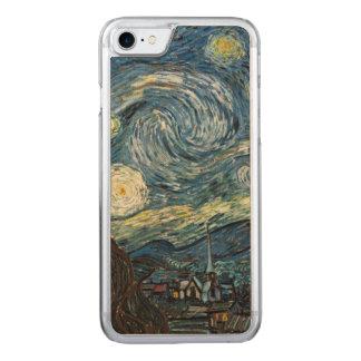 Coque En Bois iPhone 7 Nuit étoilée Van Gogh