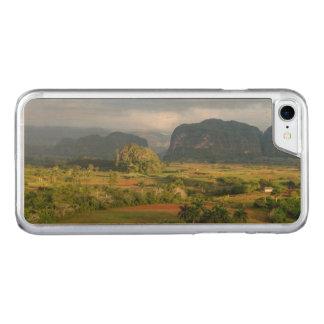 Coque En Bois iPhone 7 Paysage panoramique de vallée, Cuba