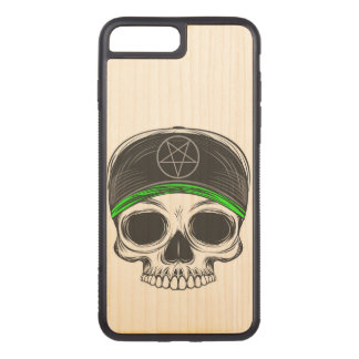 Coque En Bois iPhone 7 Plus Crâne de roche de patin