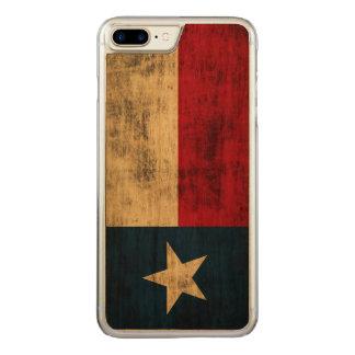 Coque En Bois iPhone 7 Plus Drapeau grunge vintage du Texas