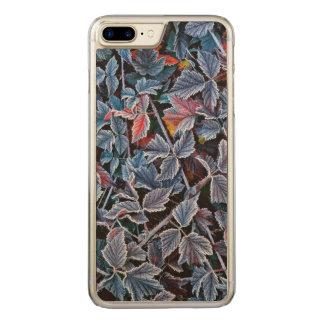 Coque En Bois iPhone 7 Plus Frost sur le feuille d'automne, Orégon