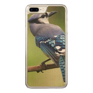 Coque En Bois iPhone 7 Plus Geai bleu