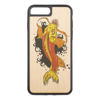 Coque En Bois iPhone 7 Plus Japonais coloré Koi
