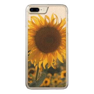 Coque En Bois iPhone 7 Plus Jardin de tournesol. Belles fleurs