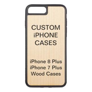 Coque En Bois iPhone 7 Plus La coutume a personnalisé l'iPhone en bois 8 plus