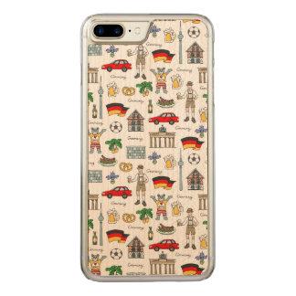 Coque En Bois iPhone 7 Plus Motif de symboles de l'Allemagne |
