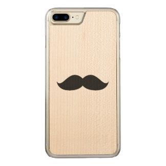 Coque En Bois iPhone 7 Plus Moustache noire drôle mignonne