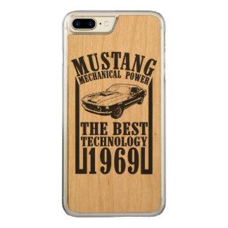 Coque En Bois iPhone 7 Plus Mustang