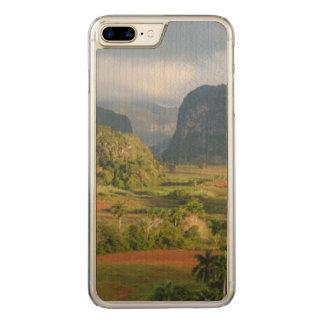 Coque En Bois iPhone 7 Plus Paysage panoramique de vallée, Cuba