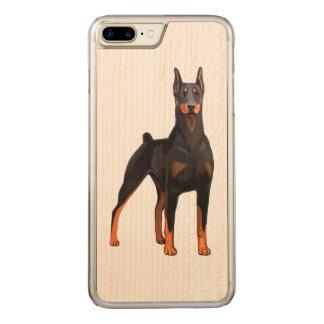 Coque En Bois iPhone 7 Plus Pinscher de dobermann