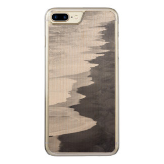 Coque En Bois iPhone 7 Plus Plage noire et blanche pittoresque