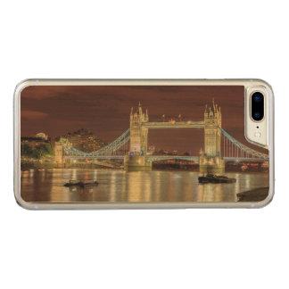 Coque En Bois iPhone 7 Plus Pont de tour la nuit, Londres