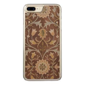 Coque En Bois iPhone 7 Plus Textile vintage Morris peu d'art de GalleryHD de