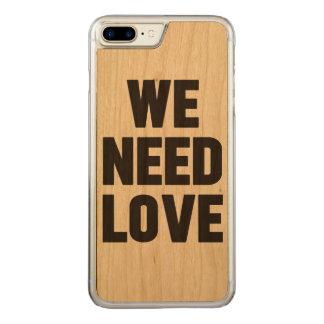 Coque En Bois iPhone 7 Plus we need love