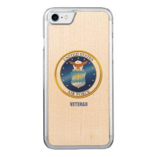 Coque En Bois iPhone 7 U.S. iPhone de vétéran de l'Armée de l'Air/cas en