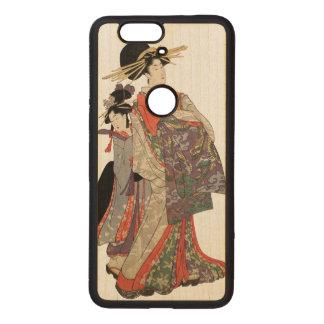 Coque En Bois Nexus 6 Femme dans le kimono coloré (copie vintage de