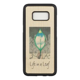 Coque En Bois Samsung Galaxy S8 La vie dans une feuille (mince)
