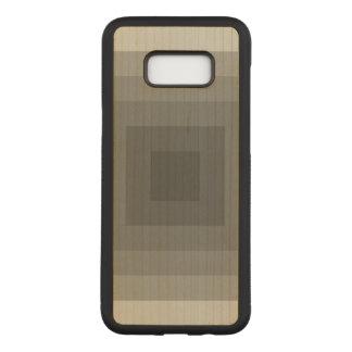 Coque En Bois Samsung Galaxy S8 Plus Carré noir géométrique