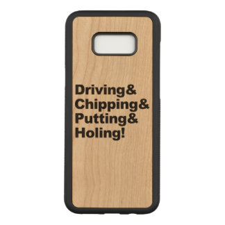Coque En Bois Samsung Galaxy S8 Plus Driving&Chipping&Putting&Holing (noir)