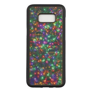 Coque En Bois Samsung Galaxy S8 Plus Étoiles de scintillement de Noël