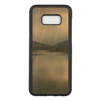 Coque En Bois Samsung Galaxy S8 Plus Lac dans les montagnes