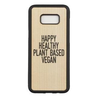 Coque En Bois Samsung Galaxy S8 Plus Le plante sain heureux a basé le végétalien (le