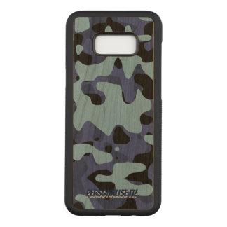 Coque En Bois Samsung Galaxy S8 Plus Les militaires bleus camouflent