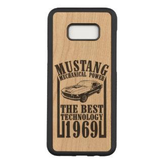Coque En Bois Samsung Galaxy S8 Plus Mustang