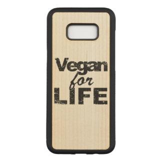 Coque En Bois Samsung Galaxy S8 Plus Végétalien pendant la VIE (noir)
