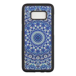 Coque En Bois Samsung Galaxy S8 S. Style en bois G403 de Mehndi de mandala de