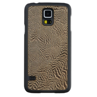 Coque En Érable Galaxy S5 Case Abrégé sur rayé plume de faisan