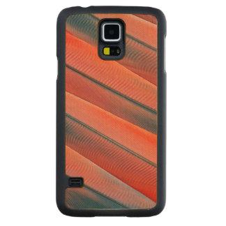 Coque En Érable Galaxy S5 Case Abrégé sur rouge plume d'ara