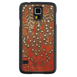 Coque En Érable Galaxy S5 Case Abrégé sur vibrant plume de Tragopan