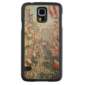 Coque En Érable Galaxy S5 Case Claude Monet | la rue Montorgueil, Paris