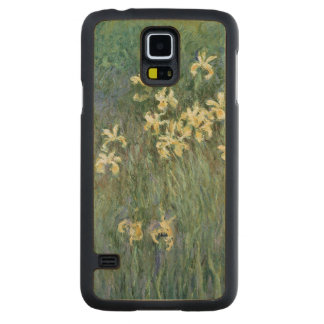 Coque En Érable Galaxy S5 Case Claude Monet | les iris jaunes