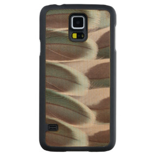 Coque En Érable Galaxy S5 Case Conception de plume d'aile de perruche