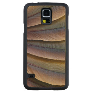 Coque En Érable Galaxy S5 Case Conception de plume de l'ara de Buffon