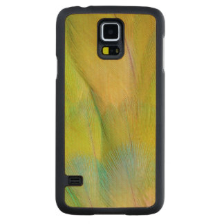 Coque En Érable Galaxy S5 Case Le vert a dirigé le perroquet horizontal