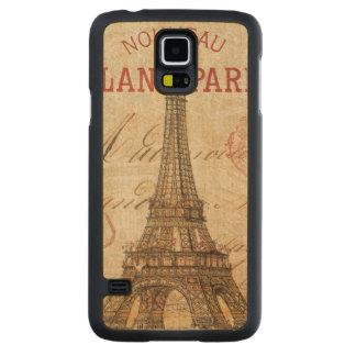 Coque En Érable Galaxy S5 Case Lettre de Paris