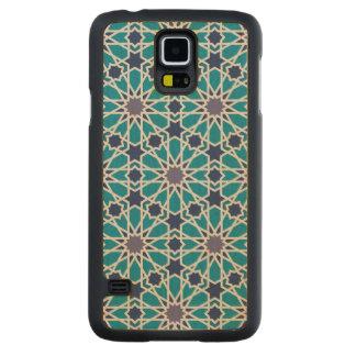 Coque En Érable Galaxy S5 Case Motif abstrait dans bleu et gris