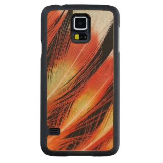 Coque En Érable Galaxy S5 Case Motif de plume de cacatoès