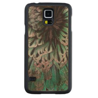 Coque En Érable Galaxy S5 Case Oiseau superbe d'abrégé sur plume de paradis